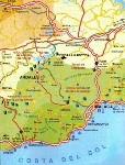 Click for larger map of the Andalucia region to locate our self catering apartments